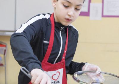 Koken op school