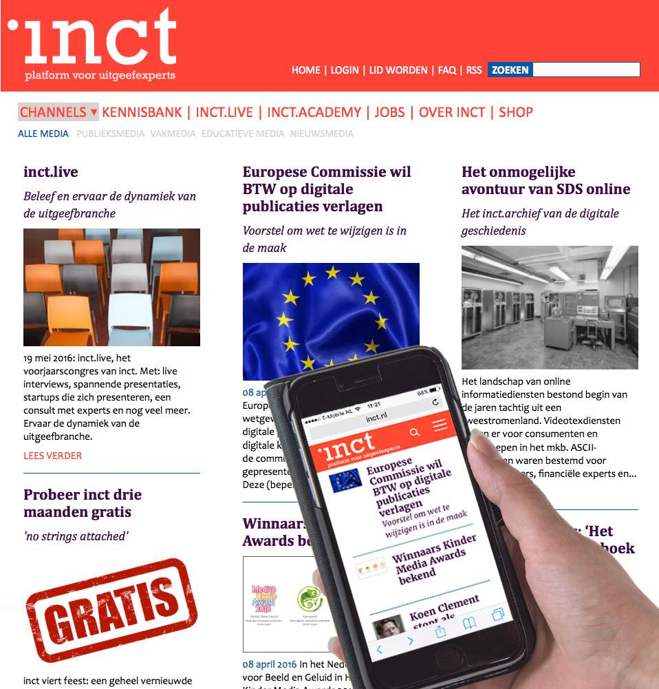 Webdesign voor inct