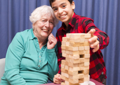 Spelletjes met ouderen