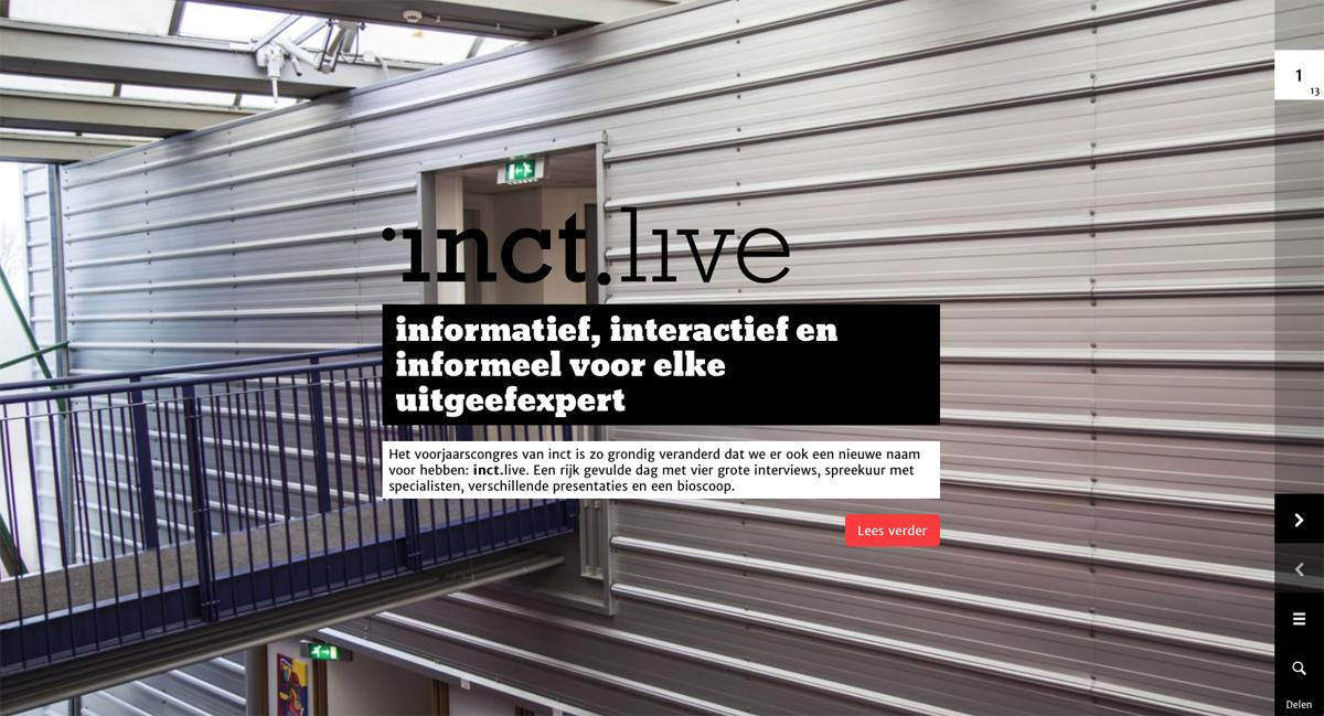 Digitaal magazine voor congres inct.live